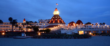 Victorian Hotel del Coronado. SAN DIEGO CA USA APRIL 8 2015: Victorian Hotel del Coronado in San Diego, USA. In the hotel was filmed famous comedy `Some like it Royalty Free Stock Image