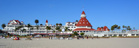 Victorian Hotel del Coronado. SAN DIEGO CA USA APRIL 8 2015: Victorian Hotel del Coronado in San Diego, USA. In the hotel was filmed famous comedy `Some like it Stock Images