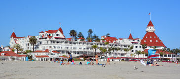 Victorian Hotel del Coronado. SAN DIEGO CA USA APRIL 8 2015: Victorian Hotel del Coronado in San Diego, USA. In the hotel was filmed famous comedy `Some like it Stock Photography