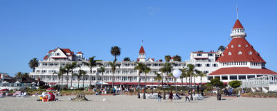 Victorian Hotel del Coronado. SAN DIEGO CA USA APRIL 8 2015: Victorian Hotel del Coronado in San Diego, USA. In the hotel was filmed famous comedy `Some like it Royalty Free Stock Photography