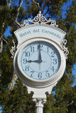 Victorian Hotel del Coronado Street clock. SAN DIEGO CA USA APRIL 8 2015: Victorian Hotel del Coronado Street clock in San Diego, USA. In the hotel was filmed Stock Photos