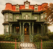 Cape may Victorian home. Victorian house with mansard roof in cape may nj Royalty Free Stock Image