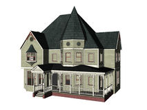 Victorian House. Isolated victorian house Royalty Free Stock Photos