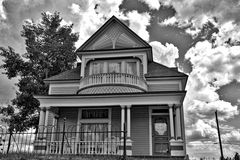 Victorian House in Black and White Stock Image