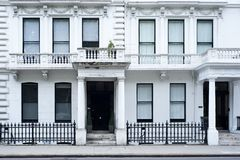Victorian house facade in London. A typical Victorian residential building in London Royalty Free Stock Photos