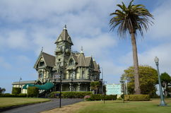 Victorian house, carson mansion. Victorian house Carson Mansion, Ingomar club in Eureka, California Royalty Free Stock Images