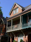 Victorian House with large balcony Royalty Free Stock Images