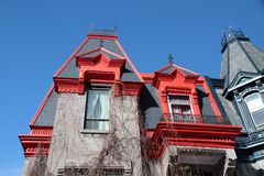 Victorian House Montreal Royalty Free Stock Photo