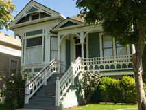 Victorian House San Jose. One of the old timers renovated and repainted.  San Jose trying to save its heritage buildings Royalty Free Stock Photos