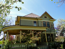 Victorian house with wrap-around porch Royalty Free Stock Photo