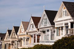 Victorian Houses. On Steiner Street, Alamo Square, San Francisco Royalty Free Stock Photos