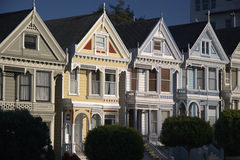 Victorian Houses. At Alamo Square in San Francisco, California Royalty Free Stock Images