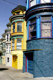 Victorian houses. Postcard Victorian houses in San Francisco Stock Images