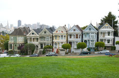 Victorian Houses. Historic Victorian Houses in San Francisco California Stock Photography