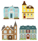 Victorian Houses. Illustration of Victorian style houses Stock Photos