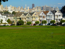 Victorian houses in Alamo Square Stock Photography