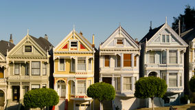 Victorian houses in Alamo Square Royalty Free Stock Images