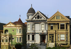 San Francisco Victorian Houses Royalty Free Stock Images
