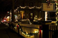 Victorian houses at Christmas Royalty Free Stock Photography
