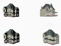 Victorian Houses - copy space Royalty Free Stock Images