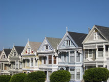 Victorian Houses with copyspace Stock Photo