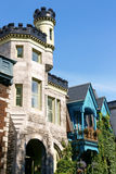 Victorian houses in Montreal Royalty Free Stock Photography