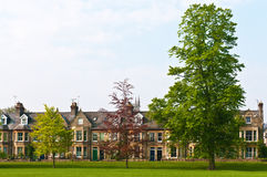 Victorian houses and park Royalty Free Stock Images