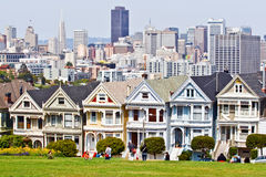 Victorian houses in San Francisco Stock Photography
