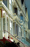Victorian houses in San Francisco, Alamo Square stock photos