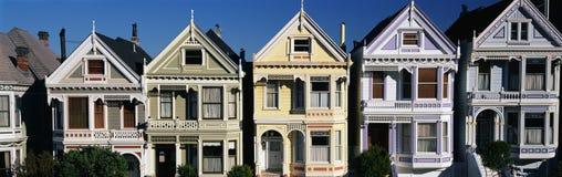 Victorian Houses,San Francisco, CA Stock Photos