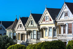 The Victorian Houses in San Francisco Stock Images