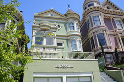 Victorian Houses San Francisco royalty free stock photo