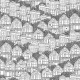 Victorian houses seamless pattern Royalty Free Stock Photography