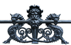 Victorian Ironwork frpm a New York City building. Ornate ironwork on a New York City Building Royalty Free Stock Images