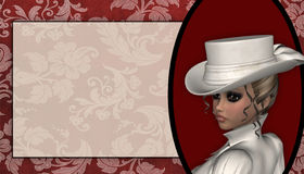 Victorian Lady Background Stock Photos