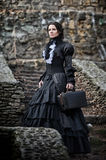 Victorian lady in black. Royalty Free Stock Image