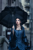 Victorian lady in blue Stock Image