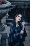 Victorian lady in blue Stock Photography