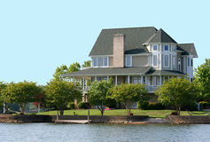 Victorian Lake Home. Victorian styled home on the lake front Stock Photo