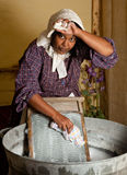 Victorian laundry chores Royalty Free Stock Photo