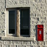 Victorian letterbox in a white wall stock photos