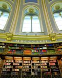 Victorian library. Old style Victorian library with big window royalty free stock photos