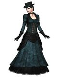 Victorian model 1. 3D render of a Victorian lady Royalty Free Stock Photography