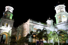 Victorian Mosque at Night. Sultan Abu Bakar Mosque at night. The mosque is located at Johore Bahru, Malaysia and was completed in 1900. The architectural style Stock Image