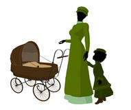Victorian Mother And Child Art Illustration Stock Image