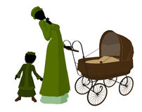 Victorian Mother And Child Art Illustration Royalty Free Stock Photography