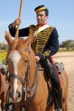 Victorian horse artillery trooper stock photos