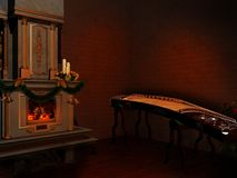Victorian music room Royalty Free Stock Image