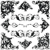 Victorian Ornament. Frames and Borders stock illustration