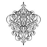 Victorian ornament intricate vector design. Victorian ornament intricate vector silhouette design isolated on white background Stock Photos